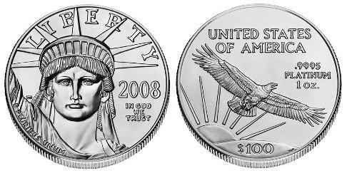 american eagle en platine