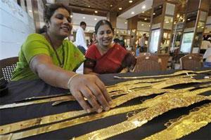 Une bijouterie en Inde