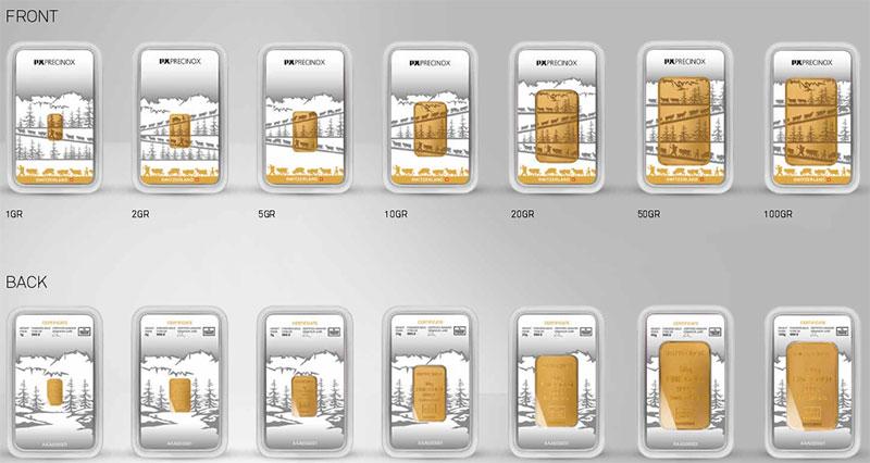 Nouveaux lingots en or destinés au grand public de PX-Group