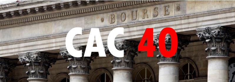 l'indice CAC 40 en Bourse.