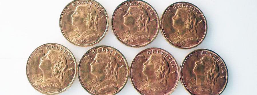 Quelels sont Les pièces en or les moins chères pour acheter?