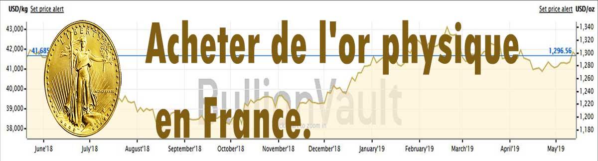 Ou acheter de l'or physique en France.