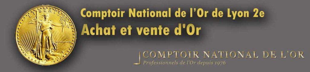 Qui achète de l'or sur Lyon ? Comptoir national de l'or Lyon 2e vend des lingot et pieces or et propose le rachat de l'or de bijoux.