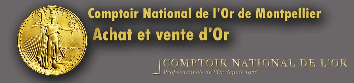 Qui achète de l'or sur Montpellier ? Comptoir national de l'or Montpellier vend des lingot et pieces or et propose le rachat de l'or de bijoux.