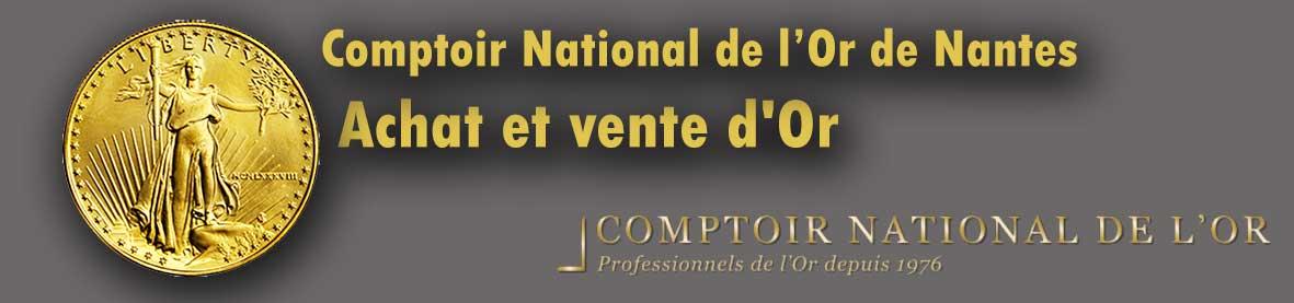 Qui achète de l'or sur Nantes ? Comptoir national de l'or Nantes vend des lingot et pieces or et propose le rachat de l'or de bijoux.