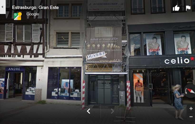 Le magasin sur strabourg kleber d'achat et vente or (Comptoir national de l'or Kleber)