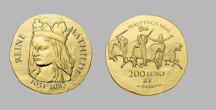 1 once Reine Mathilde 200€.