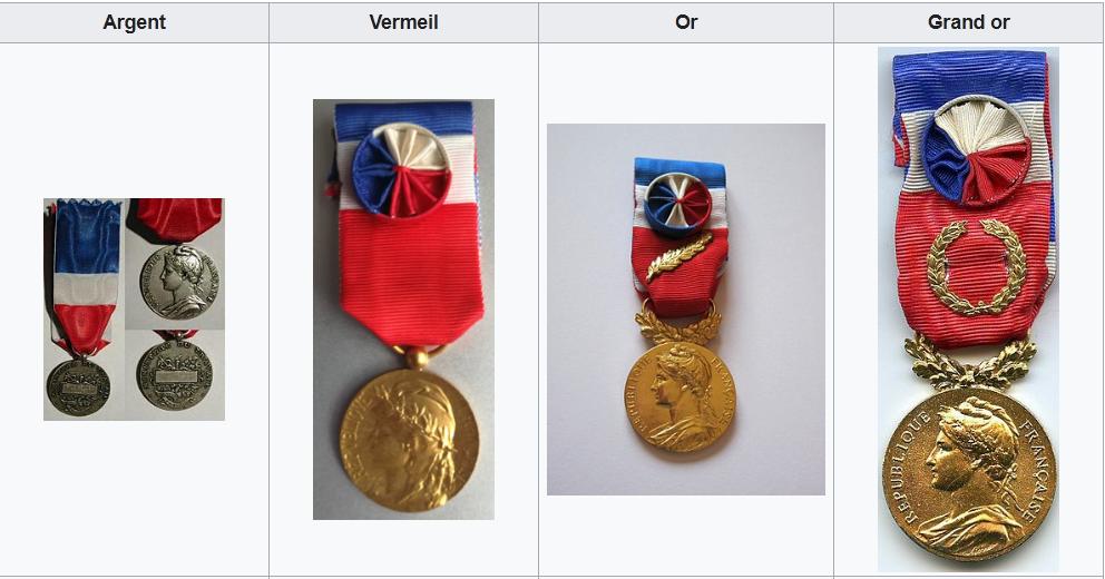 """les Médailles d'honneur du Travail sont destinées à récompenser """" l'ancienneté des services honorables effectués par toute personne salariée ou assimilée""""."""