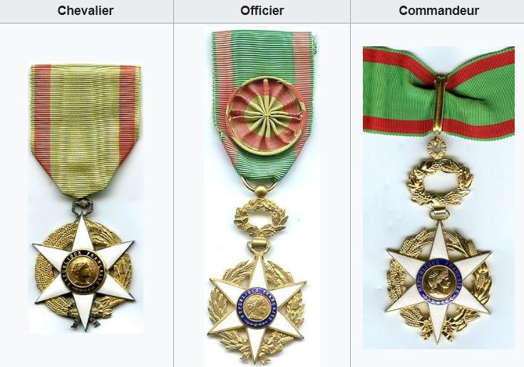 L'Ordre du Mérite agricole est destiné à récompenser les personnes ayant rendu des services marquants à l'agriculture.