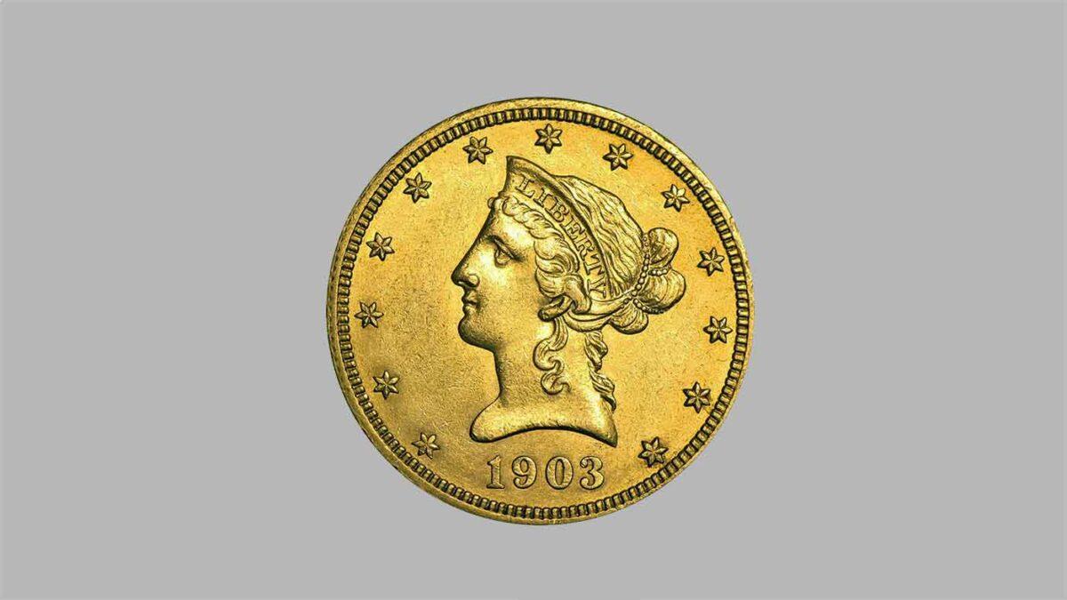 Arrticle sur les monnaies de 10 dollars or « Tête de Liberté » 1838 à 1907.