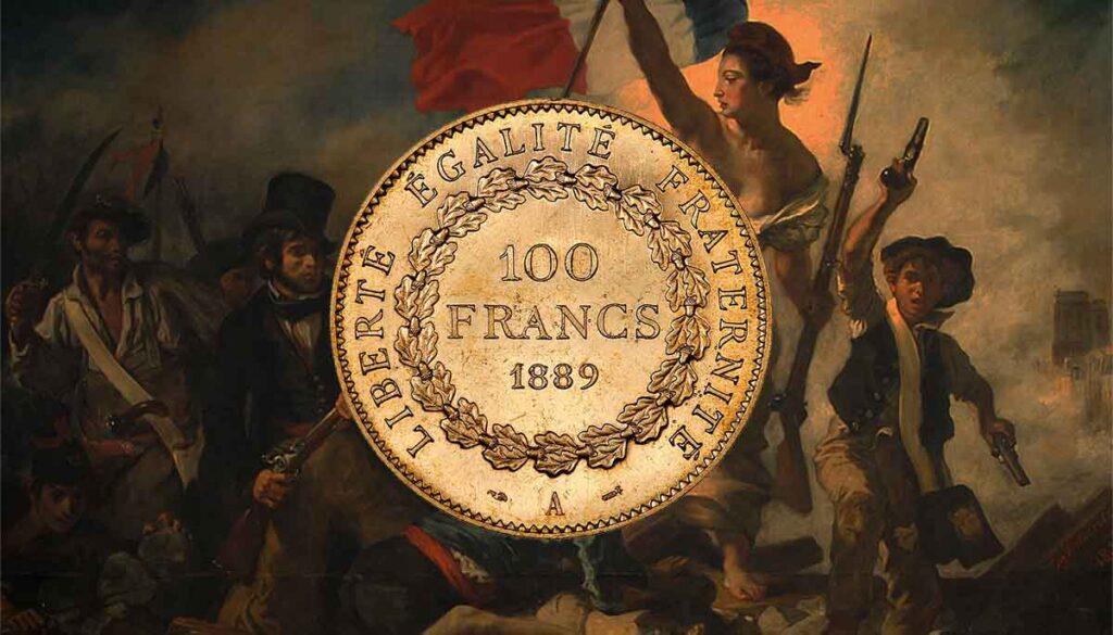 Tous les modèles et année des monnaies en or françaises de 100 Francs OR.