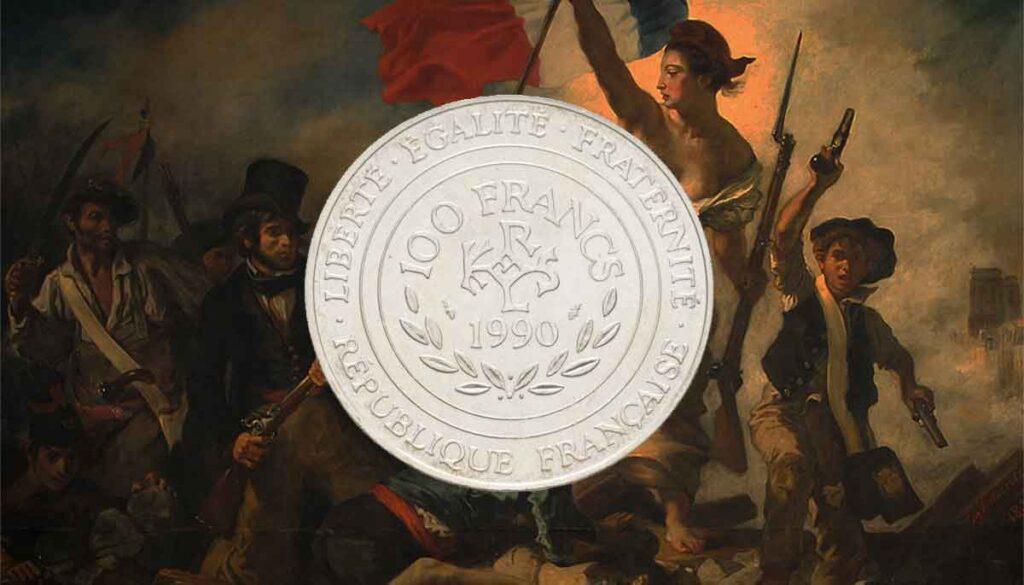 Toutes les modèles et année des pièces françaises de 100 francs en argent.
