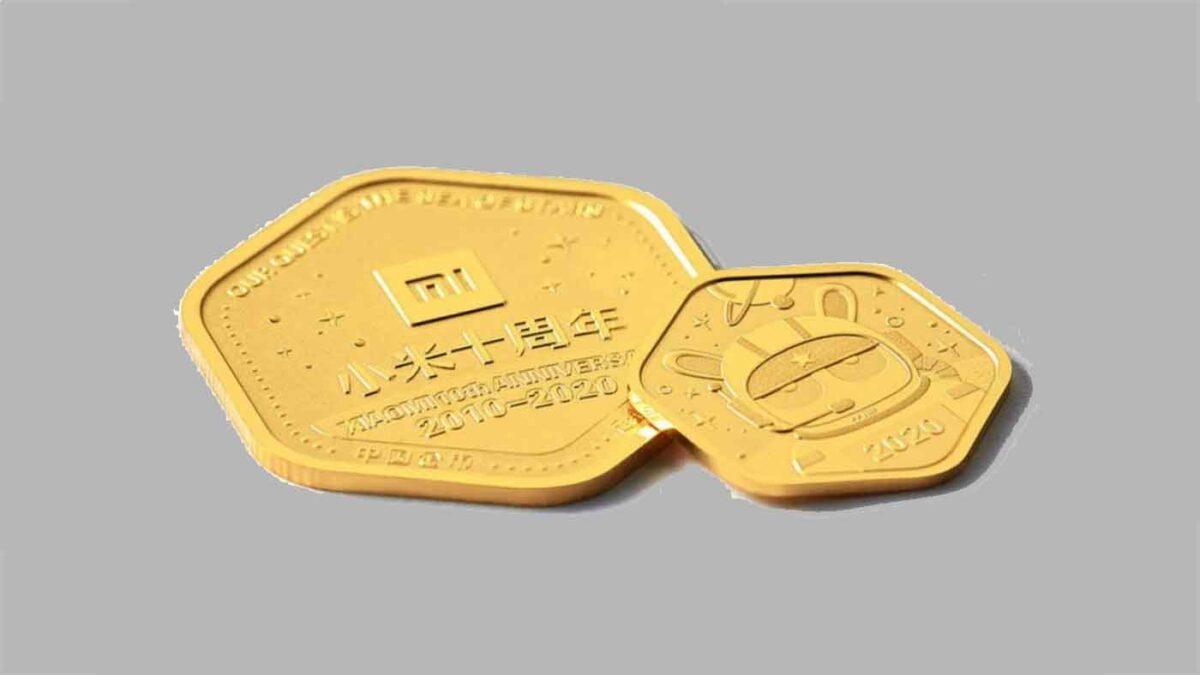 Xiaomi lance ses propres pièces d'or d'une valeur comprise entre 180 et 600 euros.