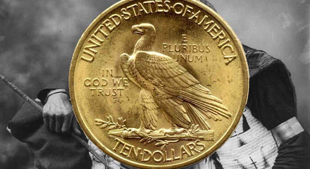 Tous les modèles et année des monnaies des monnaies d'or américaines de 10 Dollars Eagle en OR