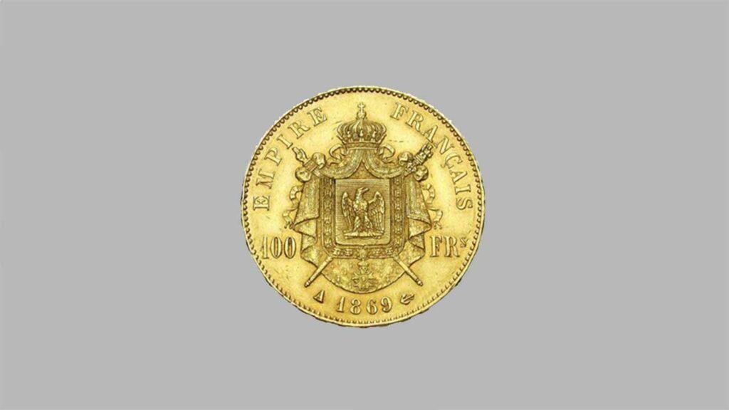 Article sur la monnaie en or de 100 Francs Napoléon III Tête Laurée. 1861 à 1870